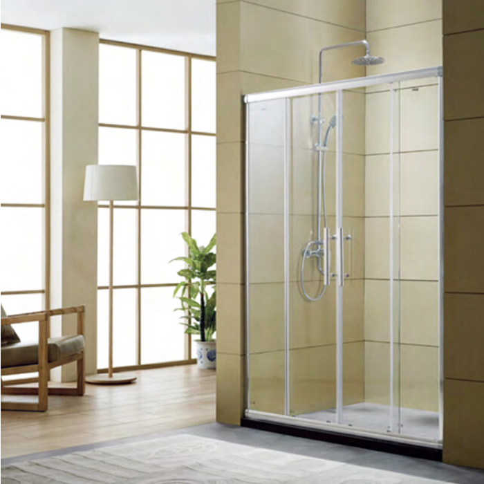 China Four Panel Glass Shower Door With Aluminum Frame Two Fix Sliding Screen Bathroom Furniture Provide Of