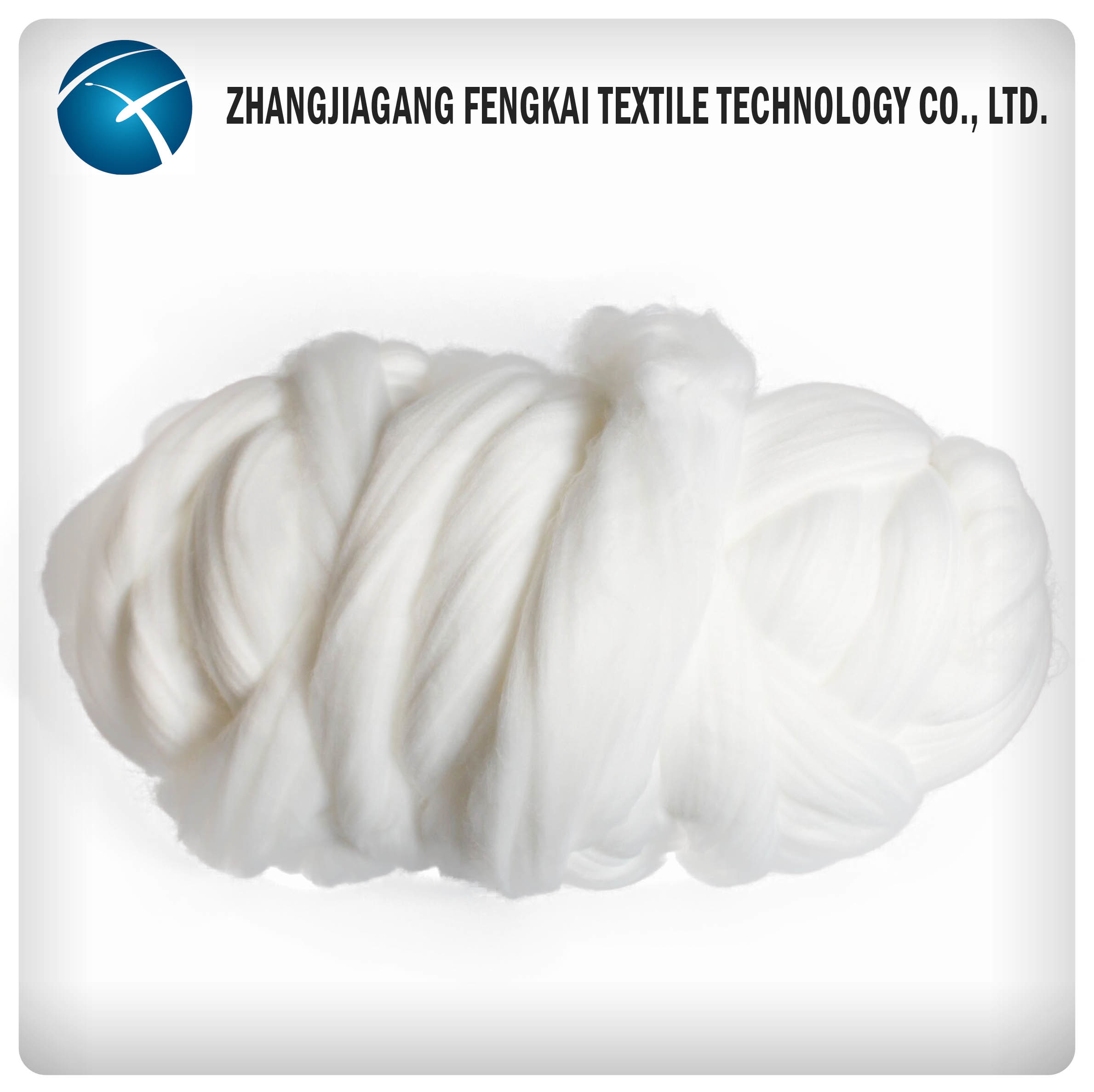 100% Polyester Tow and Polyester Top pictures & photos