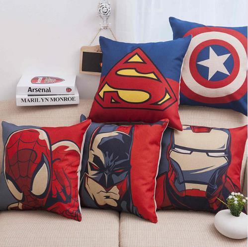 Marvel Heroes Cartoon Cushion Cover for Sofa Home Decor Super Hero X-Man Print