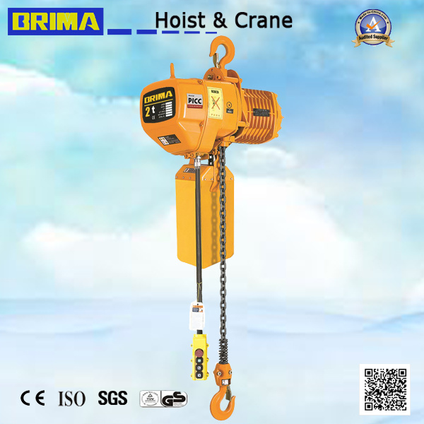 2ton Japan Electric Chain Hoist with Hook (BM02-02S)