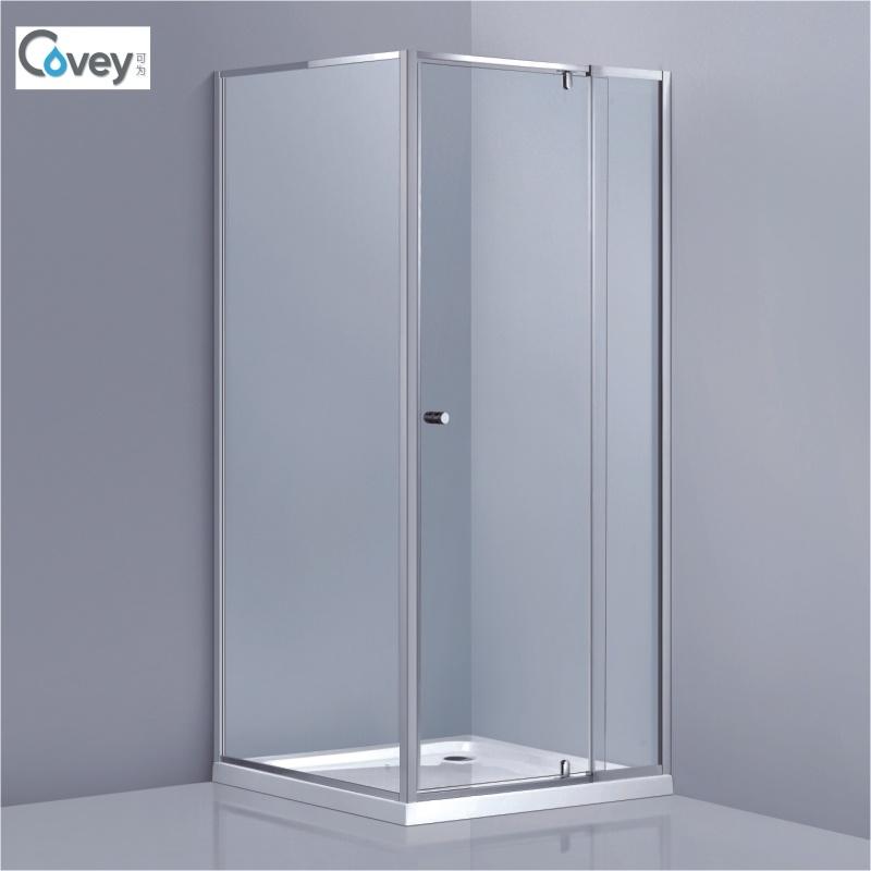 China Adjustable Frameless Shower Screen/Square Shower Enclosure ...