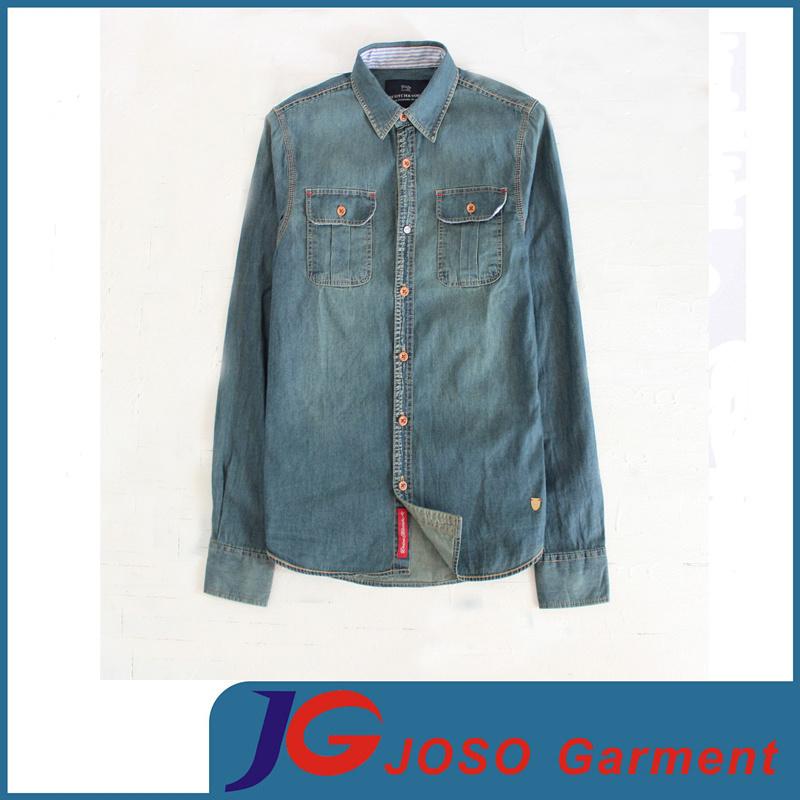 ae5ac7b045b7 China Retro Slim Leisure Denim Shirt for Man (JC7047) - China Denim Shirt,  Men′s Shirt