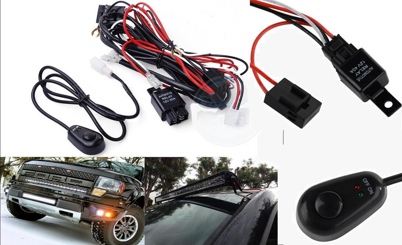 China 40a 12v On Off Switch Wiring Harness Kit Relay For Led Work Light Bar Connector Auto Parts