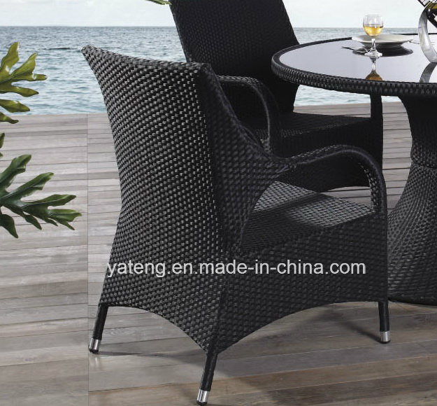 Outdoor Garden Furniture Dining Set Round Table Knockdown with Chair (YT267-1)