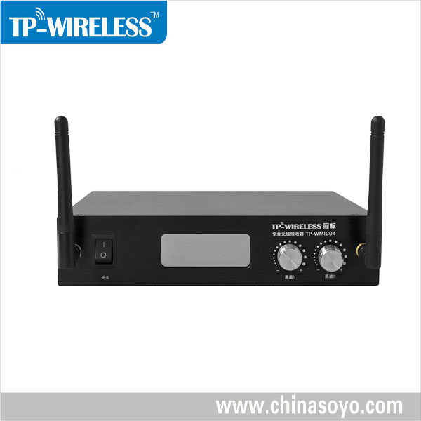 Dual-Channel Wireless Microphone Receiver (XLR audio output)