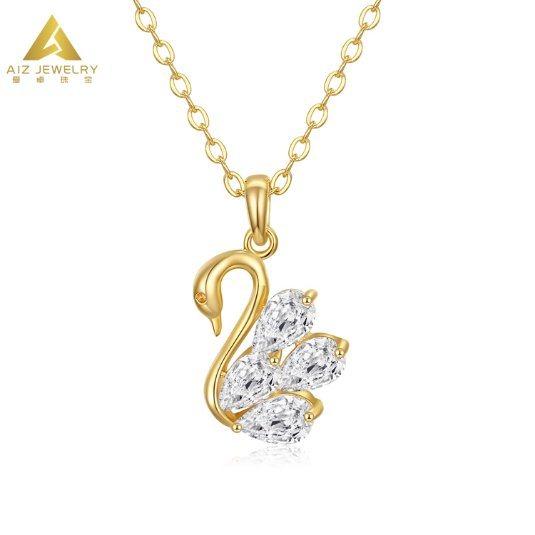 Zircon crystal Swan 925 sterling silver Women Earring Jewellery UK