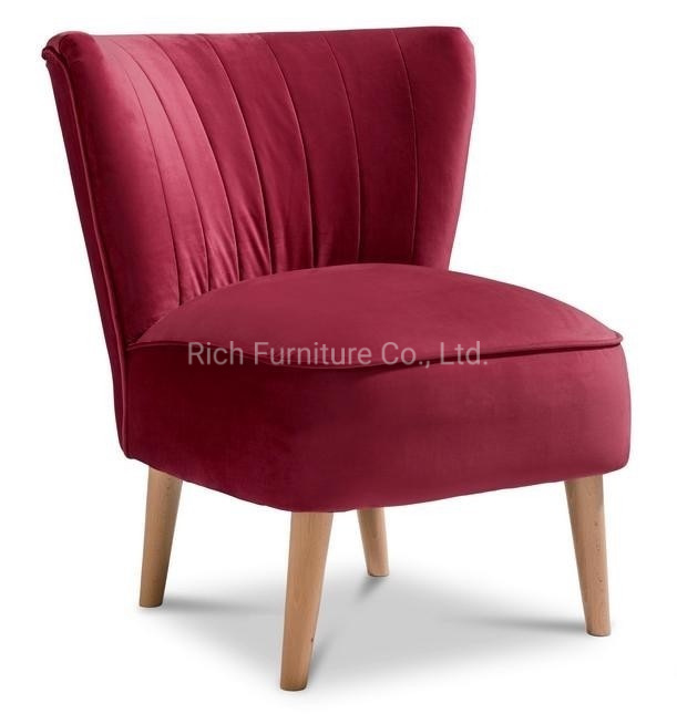 China New Claret Dark Red Accent Chair