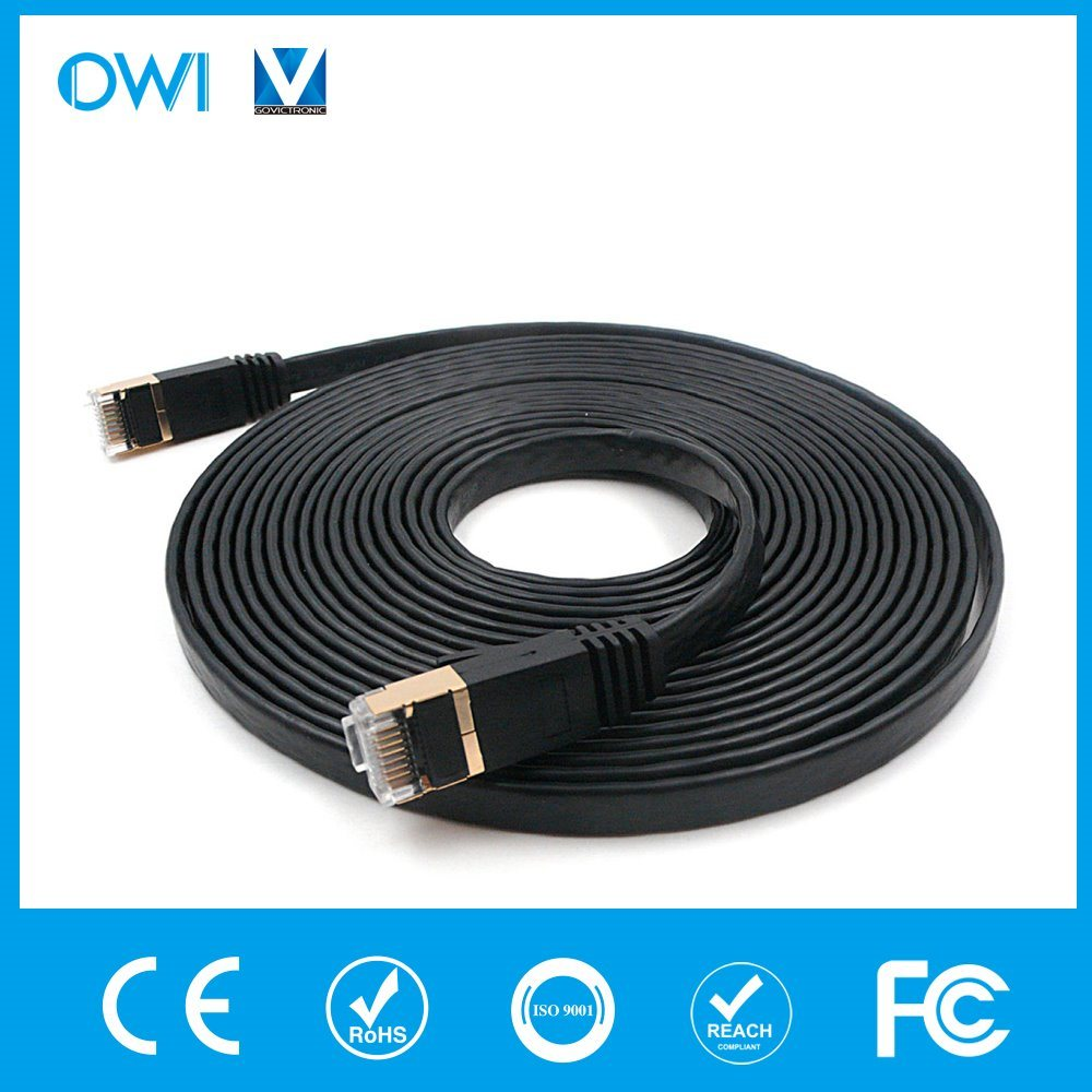 China Ethernet Cable Flat Patch Cord Cat7 U/UTP Unshieleded Twisted ...