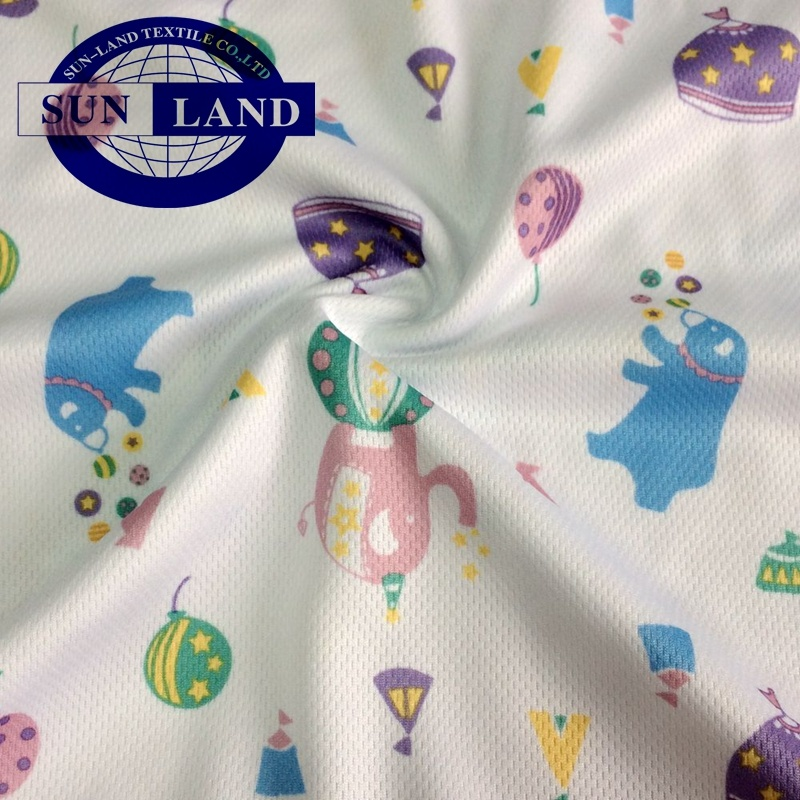 Printed on Quick Dry Bird Eye Knitting Fabric for Kids Wear pictures & photos