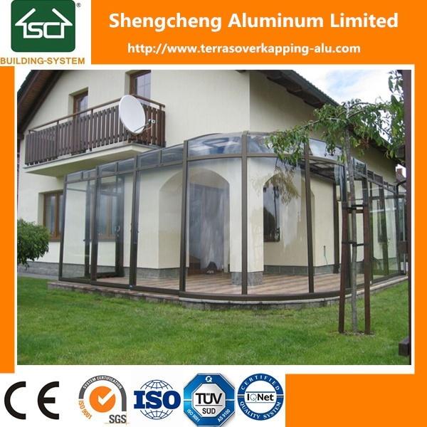 China DIY Installation Waterproof Sunroom Glass Houses Photos ...