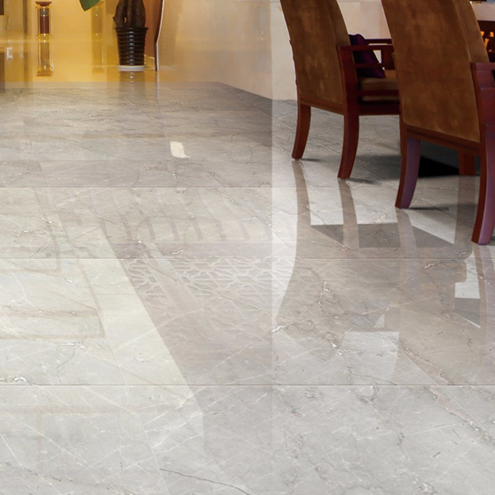 Grey Glazed Polished Porcelain Floor Tiles Made In China 800x800mm