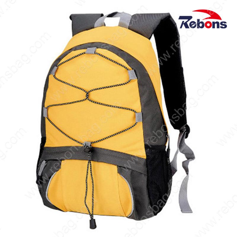 hot-seeling original 50% price popular stores [Hot Item] Yellow Custom Logo 600d Polyester Travel Bag Sports Backpacks