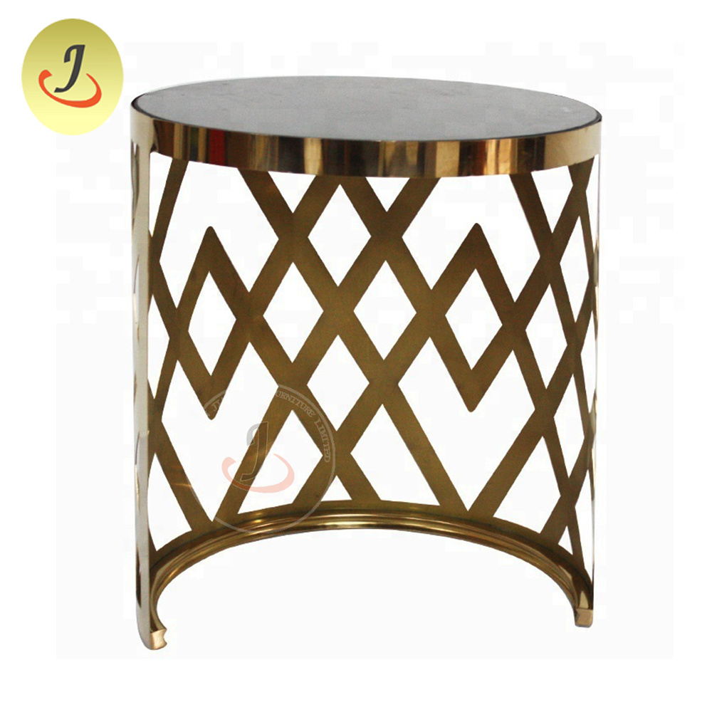 - China Tempered Glass Top Stainless Steel Legs Round Coffee Table