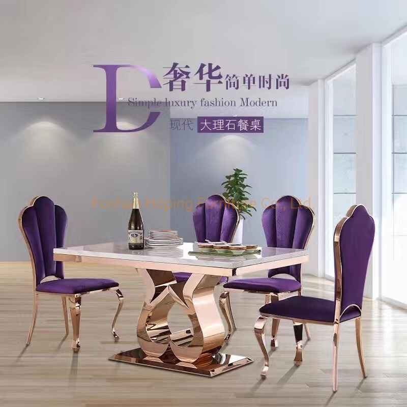 China Dining Table Set 6 Seater Glass, Purple Dining Room Chairs