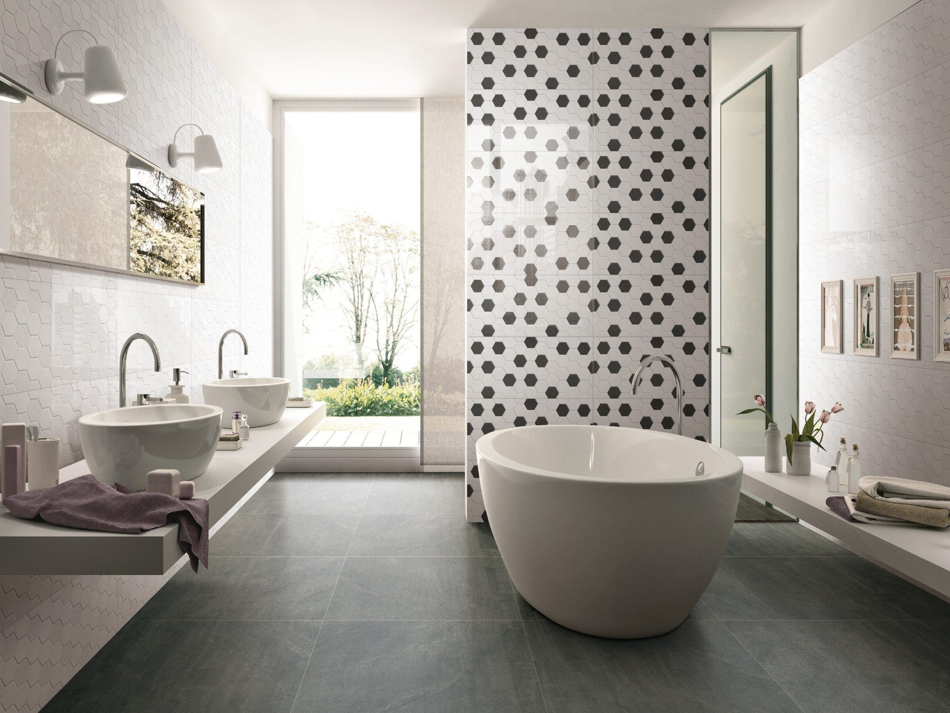 Ceramic Bathroom Floor Wall Tile 63001