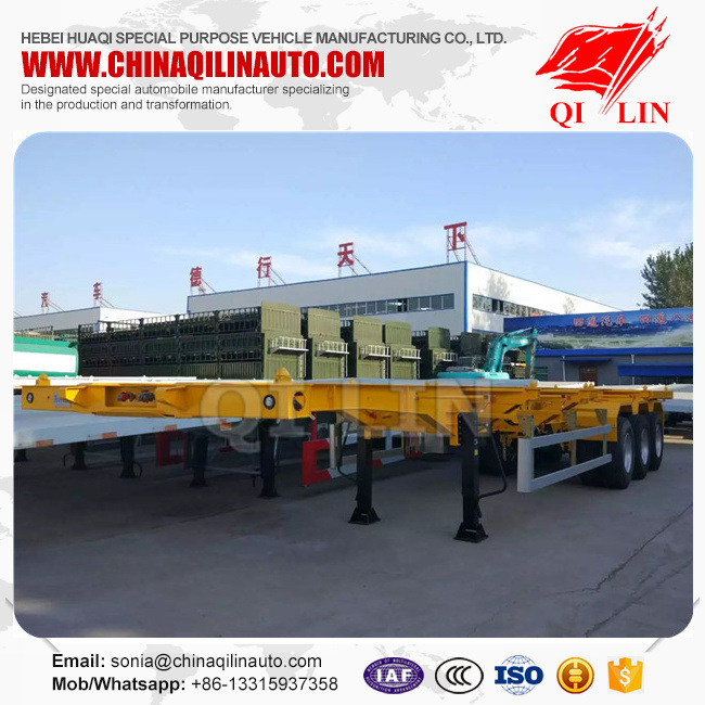40feet ISO9001 Container Chassis Semi Trailer pictures & photos