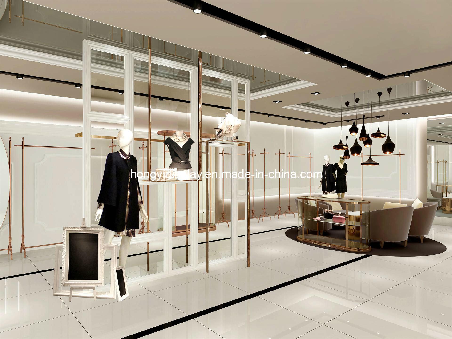 China High End Garments Showroom Display Lady Clothing Shop