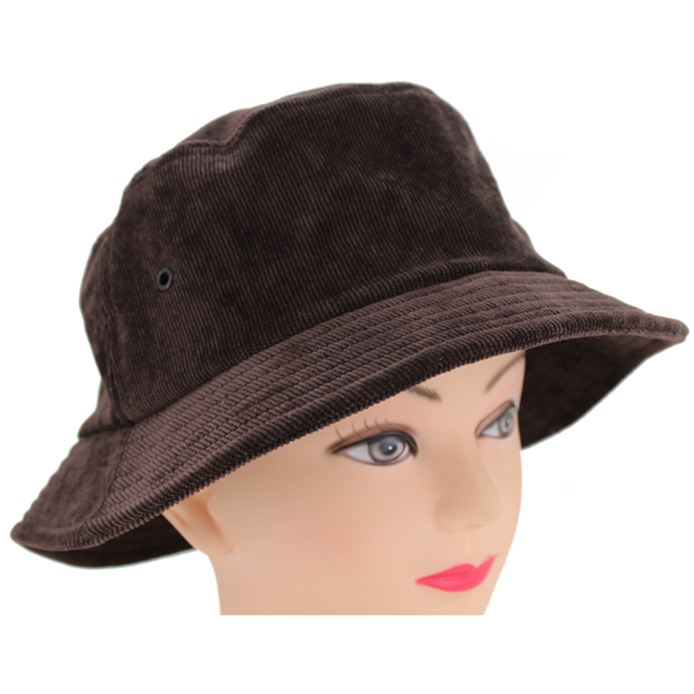 4b00ea212b8 China Custom Plain Blank Corduroy Bucket Hat with Your Own Logo ...