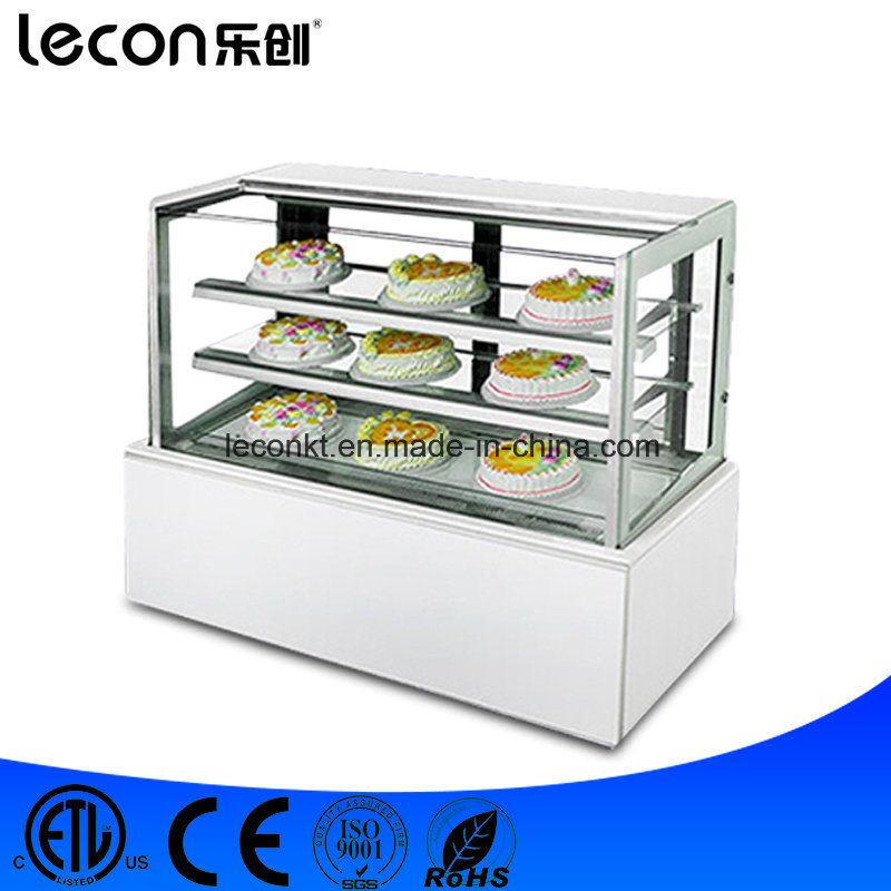 China Countertop Curve Glass Refrigerated Cake Display Cabinet Freezer Showcase