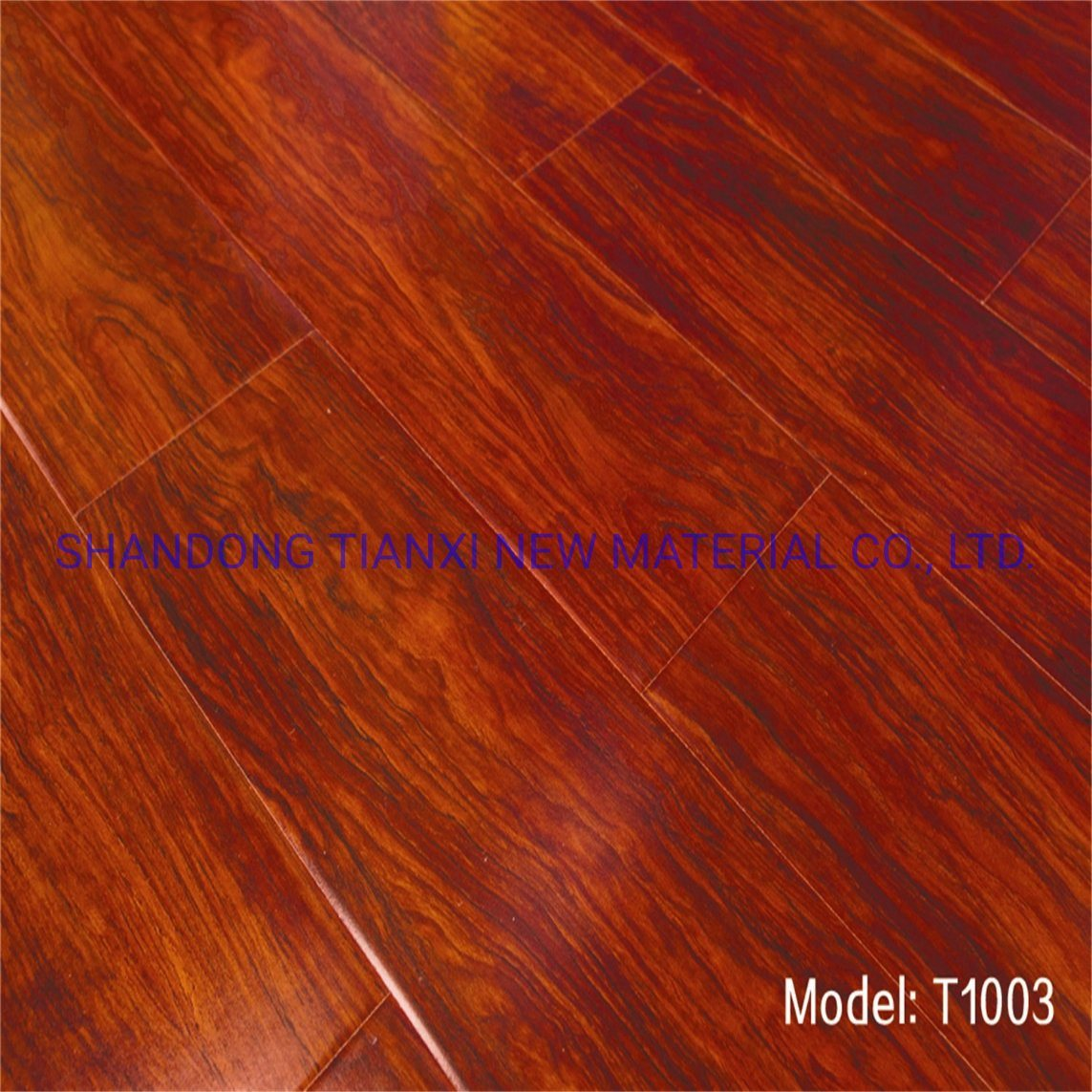 Groove Edged Laminated Flooring Wooden HDF Laminated Floor in China pictures & photos