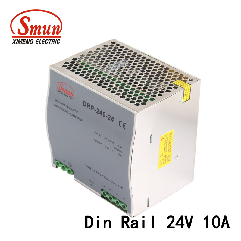 [Hot Item] 240W 24VDC 10A DIN Rail AC-DC Pfc Switching Power Supply