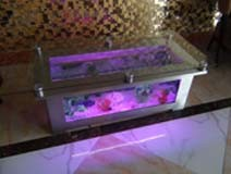 Aquarium Coffee Table.Hot Item Clear Glass Fish Tank Waterfall Aquarium Coffee Table With Changeable Led Light
