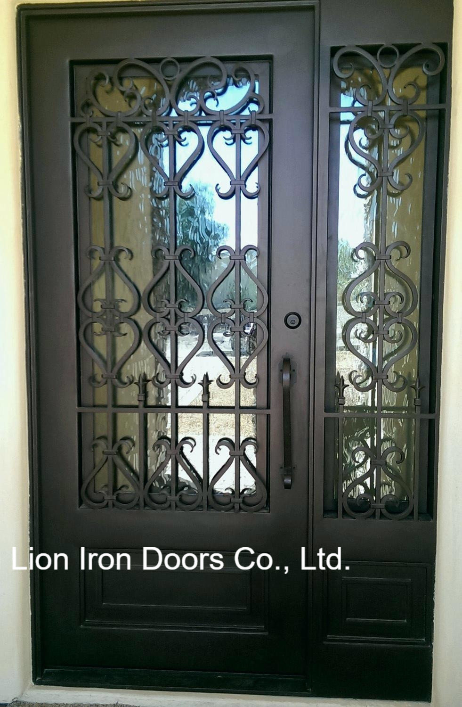 Standard Arizona Single Entry Door Wrought Iron Front Doors