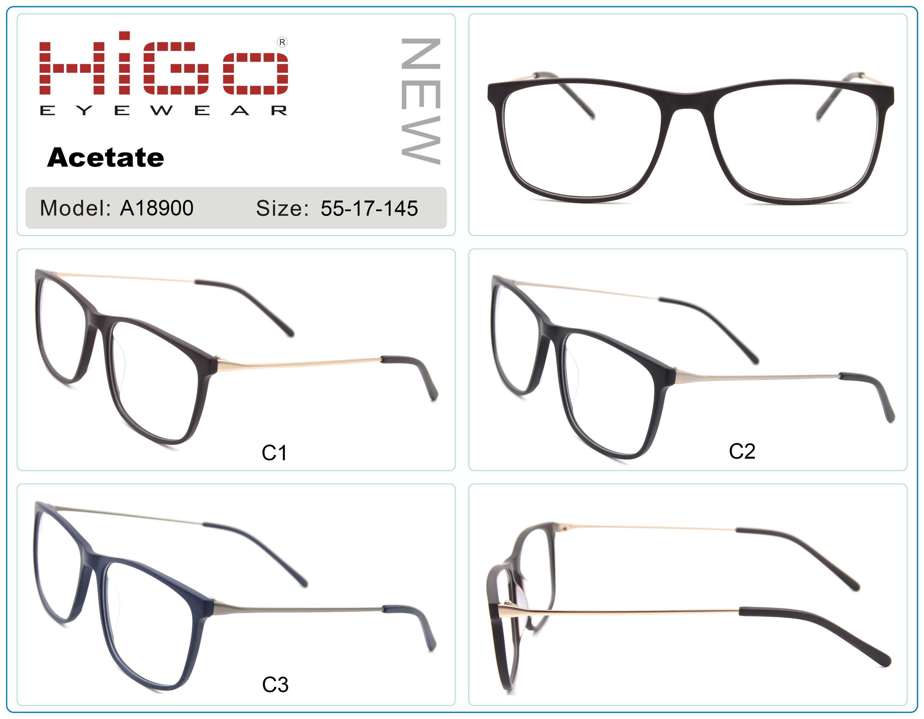 China New Stylish Acetate Optical Frame Wholesale Eyeglass Made in ...