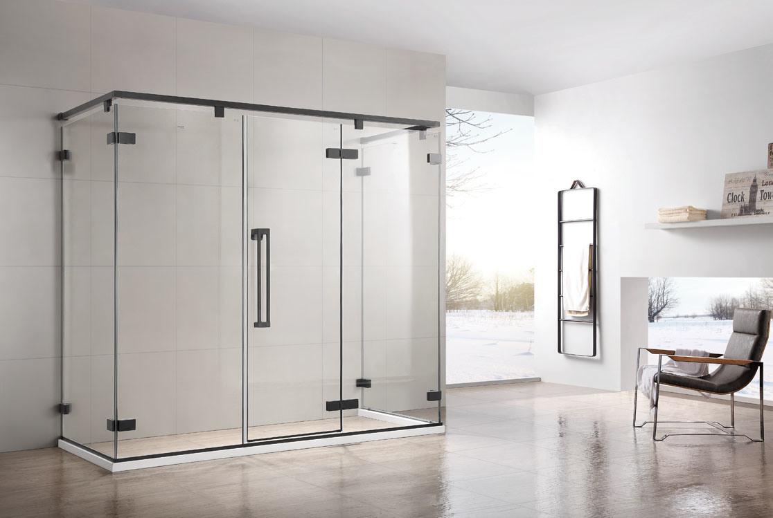 China Simple Sliding Door Frameless Tempered Bathroom Glass Shower