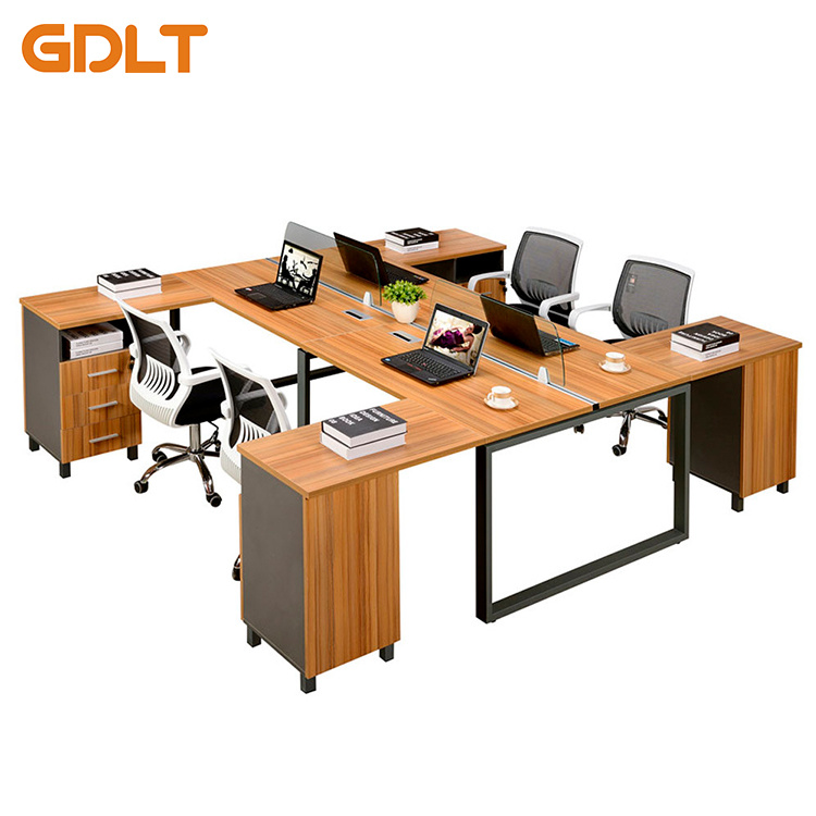 China Mdf Top Metal Table Leg Extensions Office Workstation Staff Desk Gt P67 Six Person