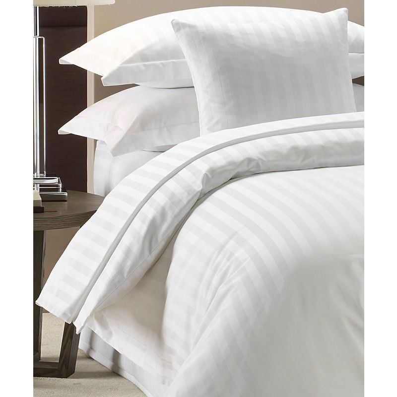 China Whole 300tc Luxury Hotel Quality Cotton 3cm Stripe Bed Linen Duvet Cover Comforter Set