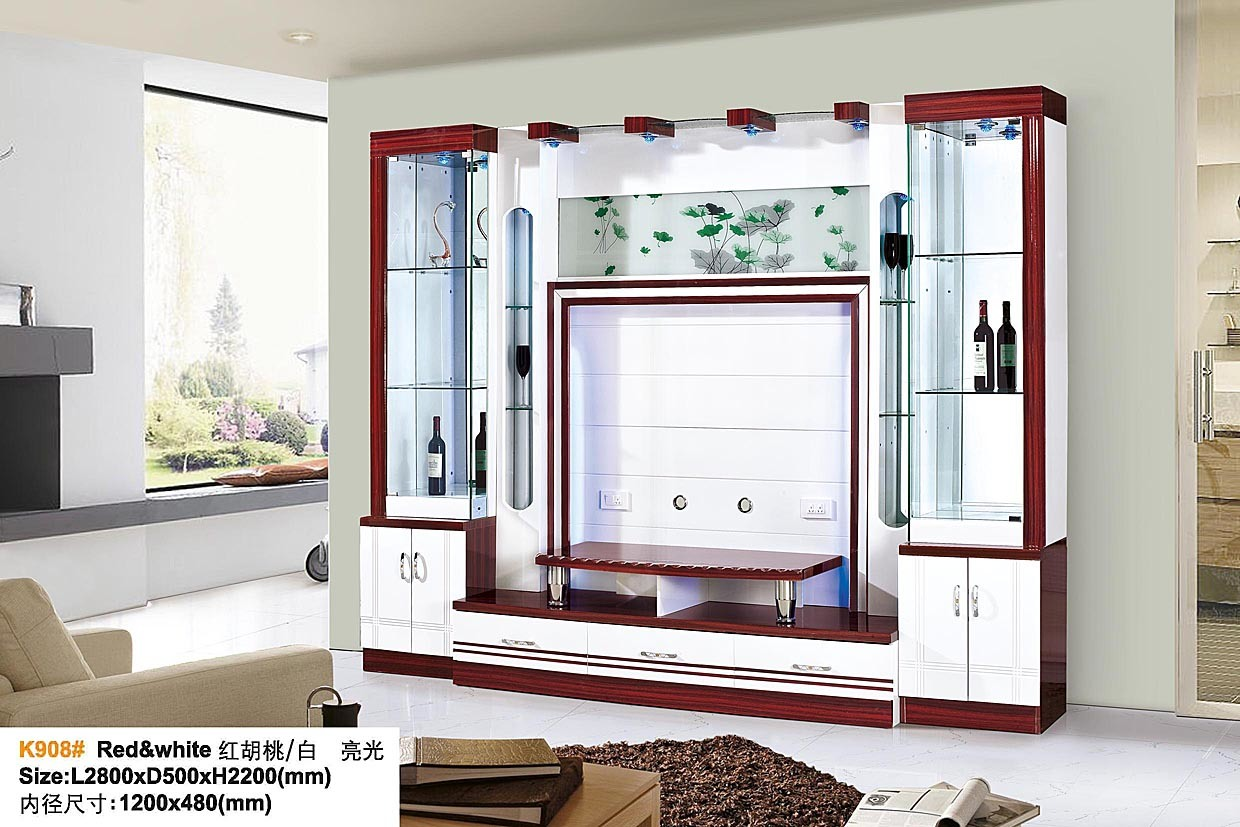 China Modern Simple TV Wall Unit Living Room Furniture TV ...