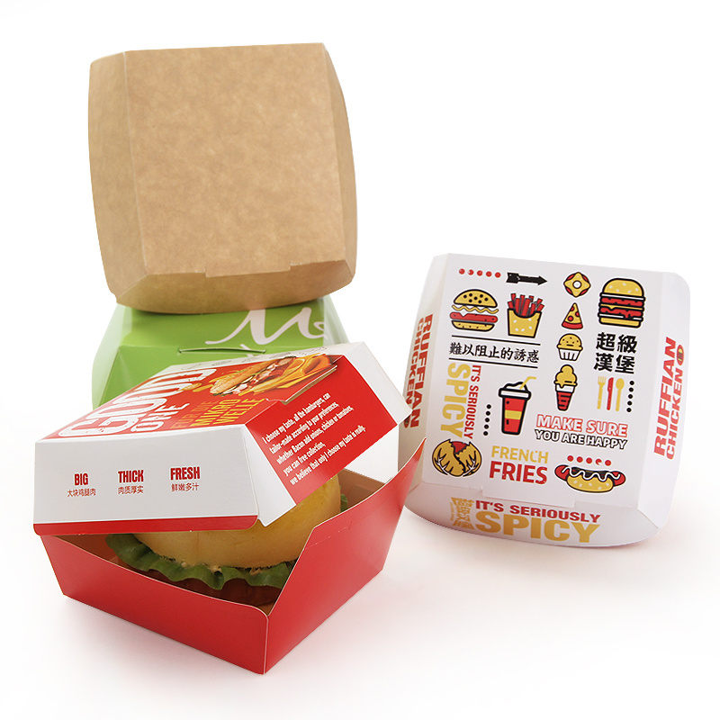 Cheap Custom Design Paper Burger Box pictures & photos