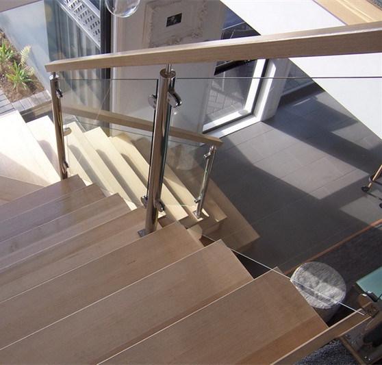 China Modern House Staircase Stainless Steel Glass Railing Design Glass Balustrade China Railing Balustrade