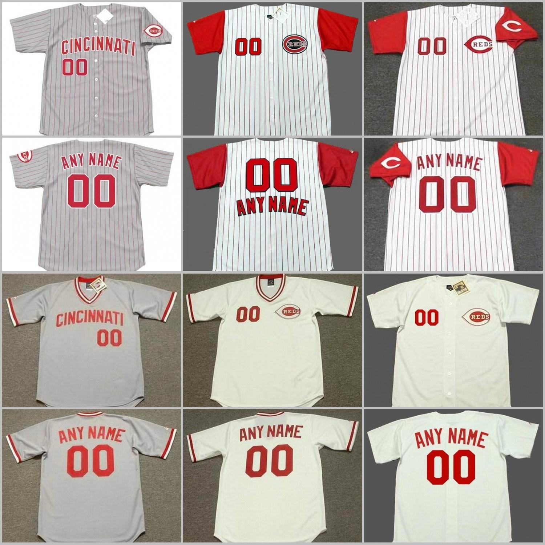 huge discount a1ec6 d4d47 [Hot Item] Barry Larkin Pete Rose Chris Sabo Cusomized Throwback Baseball  Jersey