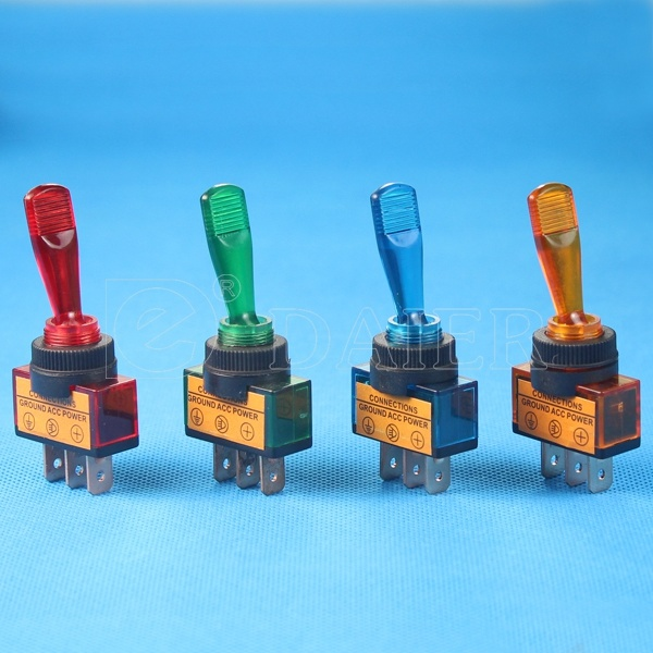 China Red Automotive 12V Lighted Different Types of Toggle Switch ...