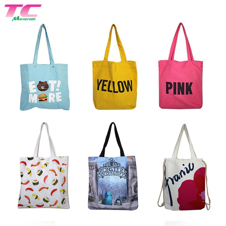 f66ff2eb5 China Custom Printed Colorful Cotton Fabric Carry Bag Reusable Eco Canvas  Tote Shopping Bag - China Shopping Bag, Tote Bag