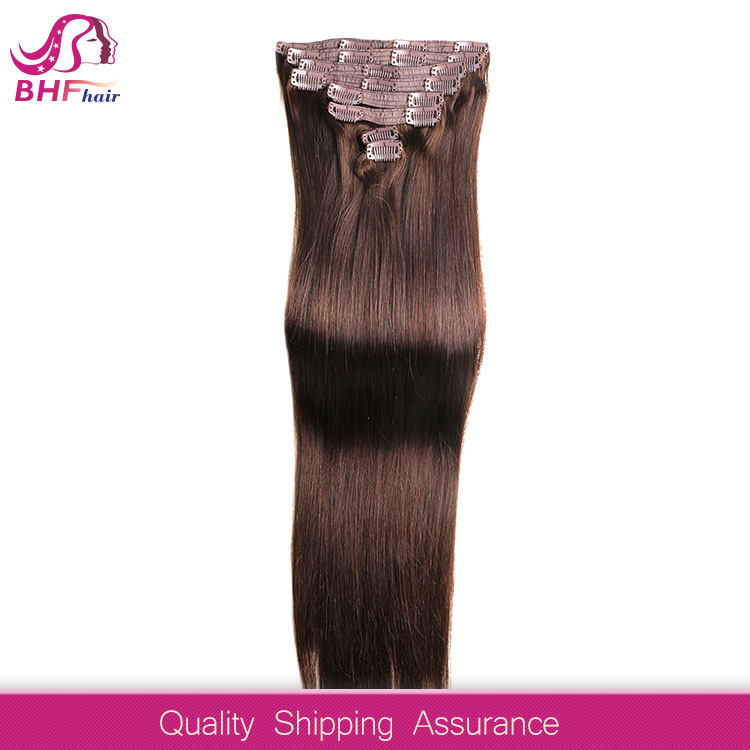 China Color 60 Clip In Human Hair Extensions Blonde Human Hair