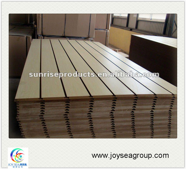 Building Material Wall Cladding Slotted MDF Board pictures & photos