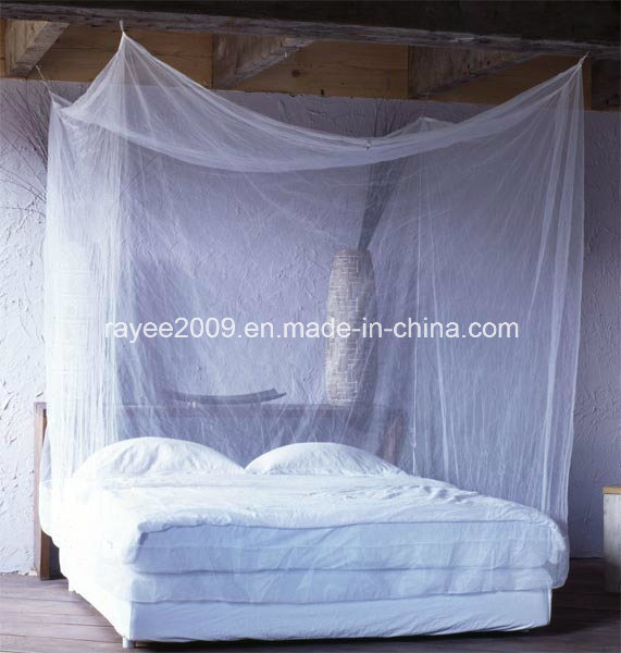 China Designer Rectangular Double Bed Mosquito Nets For Adults