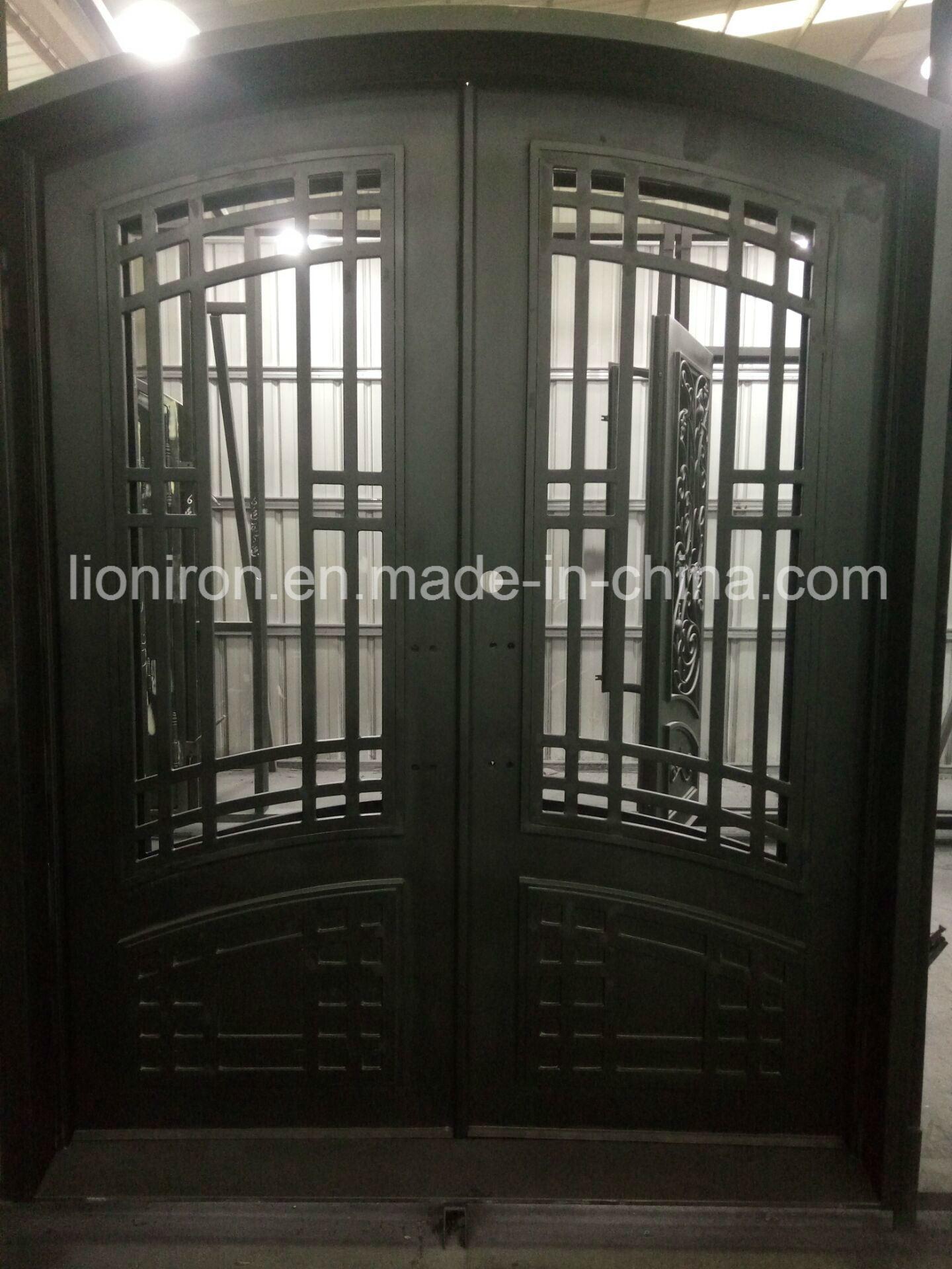Antique bronze decorative custom wrought iron front doors design
