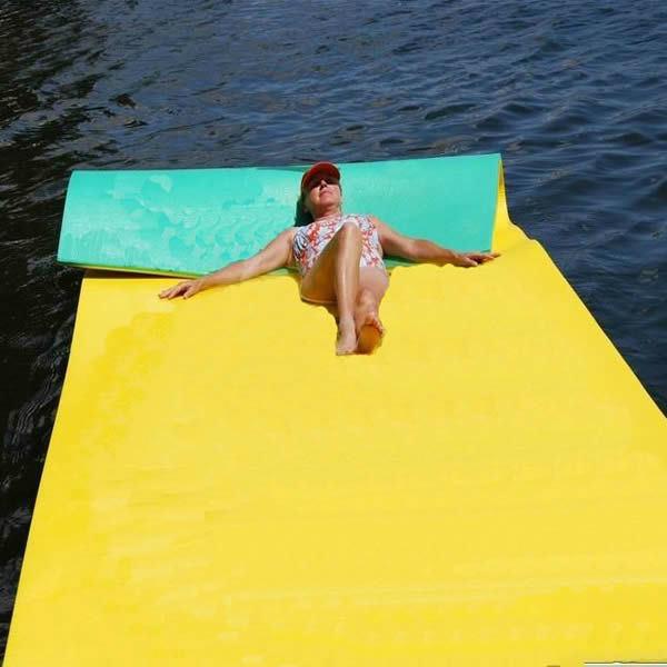 [Hot Item] Water Floating Foam Fishing Yoga Mat/Pad/Raft Lake Swimming Pool  Floating Mat/Water Mat with 550*185*3.3cm