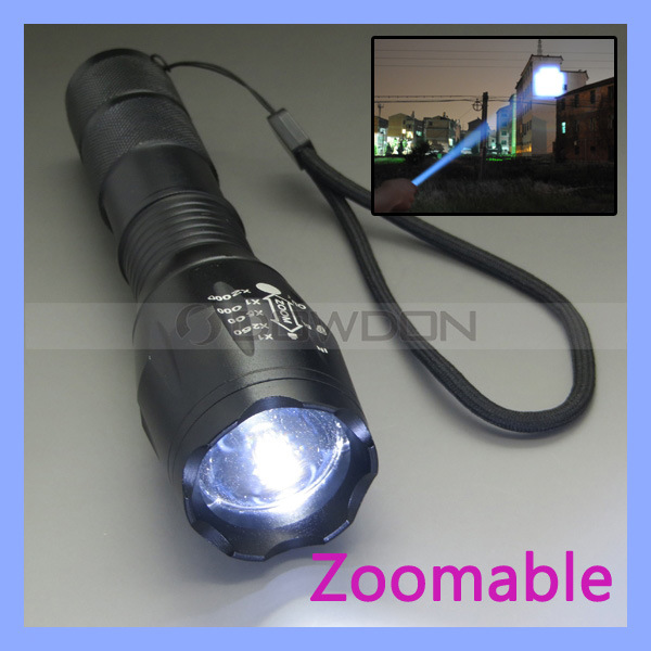 China CREE Xm-L T6 2200 Lumens CREE LED Torch Zoomable CREE LED ...