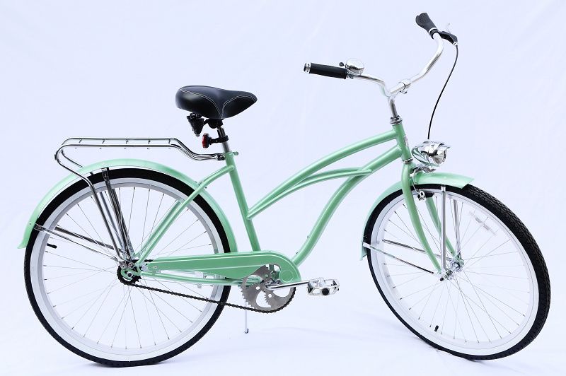 Cane Basket Carrier Hi-Ten Coaster Brake 26 Inch Beach Cruiser Bike for Lady (ARS-2684S-2) pictures & photos