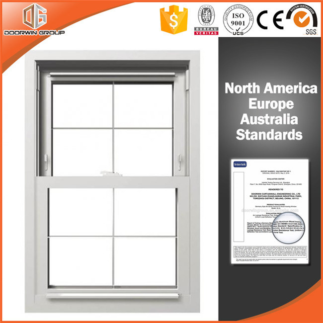China Wood Clad Aluminum Double Hung Window, Wooden Window Frames ...