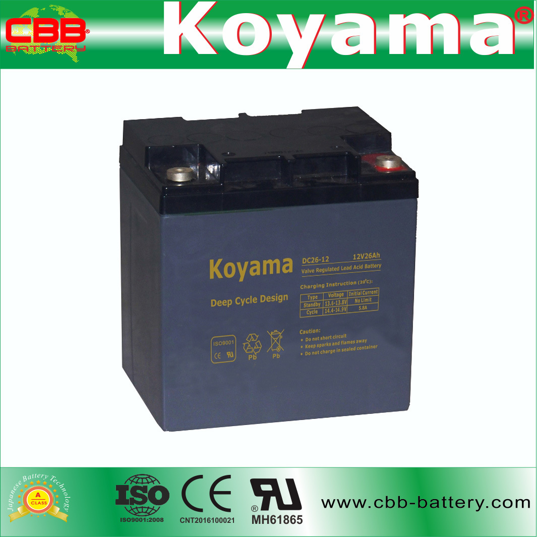 China Dc26 12 12v 26ah Rechargeable Sealed Lead Acid Agm Battery Charger Circuit Deep Cycle Solar