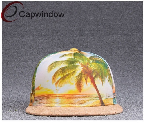 696cdad4d44 China Hawaiian Style 5 Panel Snapback Hat with Special Visor - China ...
