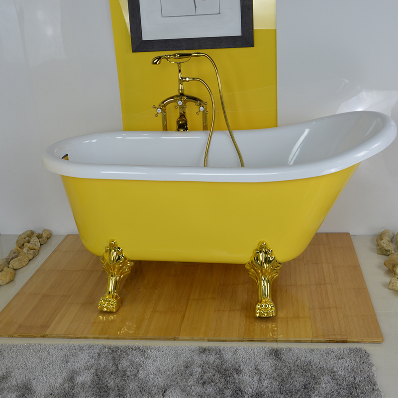 China Yellow Color Glossy Finished Bathtub, Wholesale Discount ...