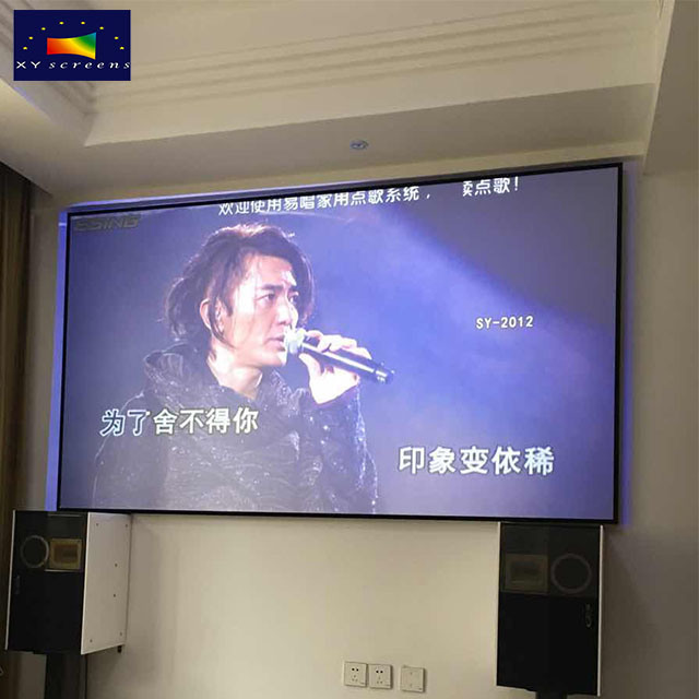 China Xy Screens HD 92 Inch Thin Fixed Frame Projection Screen 16 9
