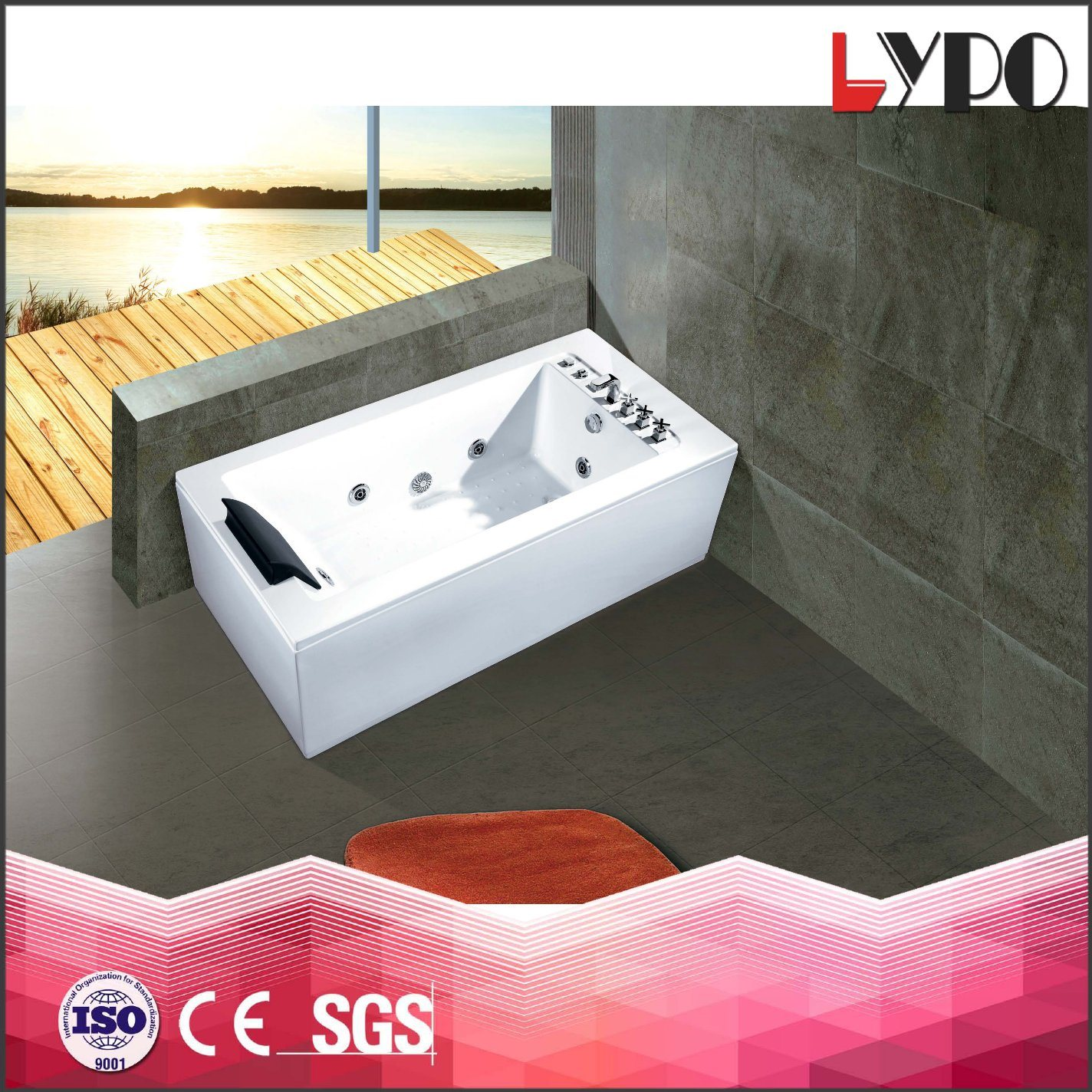 China K-8877 Indoor Corner SPA Hot Tub, SPA Whirlpool Portable ...